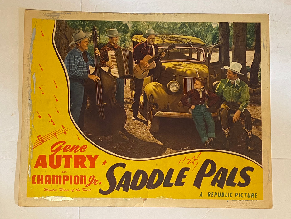 1947 Saddle Pals Lobby Card 11x14 #3 Gene Autry, Champion Jr., Lynne Roberts   - TvMovieCards.com
