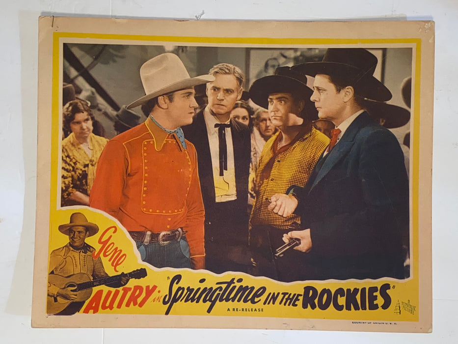 R1940s Springtime in the Rockies 11x14 Lobby Card Gene Autry, Polly Rowles   - TvMovieCards.com