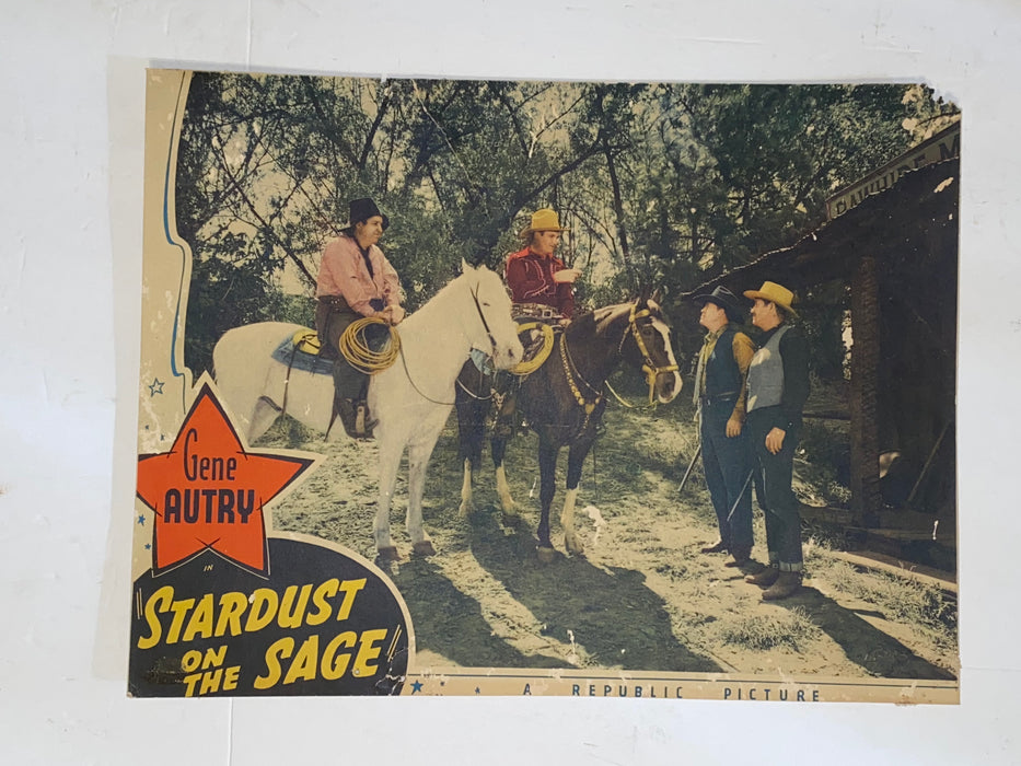 1942 Stardust on the Sage 11x14 Lobby Card Gene Autry, Smiley Burnette,   - TvMovieCards.com