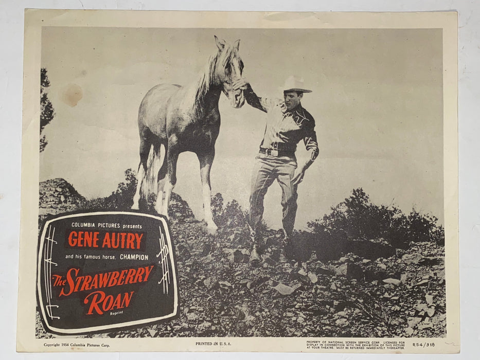 R1954 The Strawberry Roan 11x14 Lobby Card Gene Autry, Champion, Gloria Henry   - TvMovieCards.com