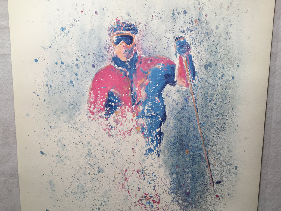 "Dan Young Panache Editions - Aspen Skiing Poster Lithograph Print 25 x 36""   - TvMovieCards.com"