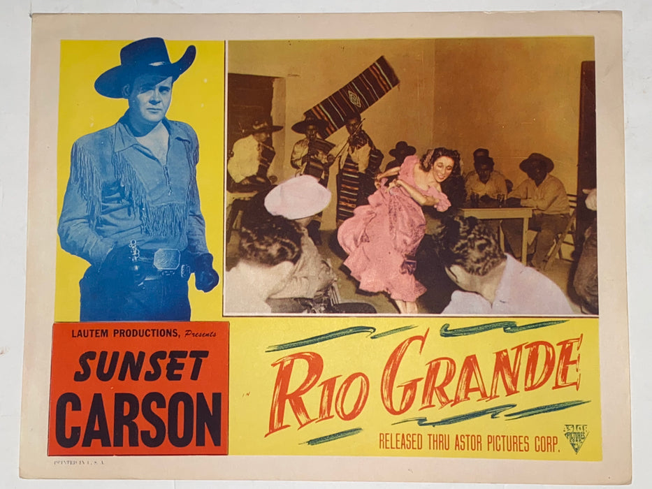 1949 Rio Grande 11x14 Lobby Card Sunset Carson, Evohn Keyes, Lee Morgan   - TvMovieCards.com