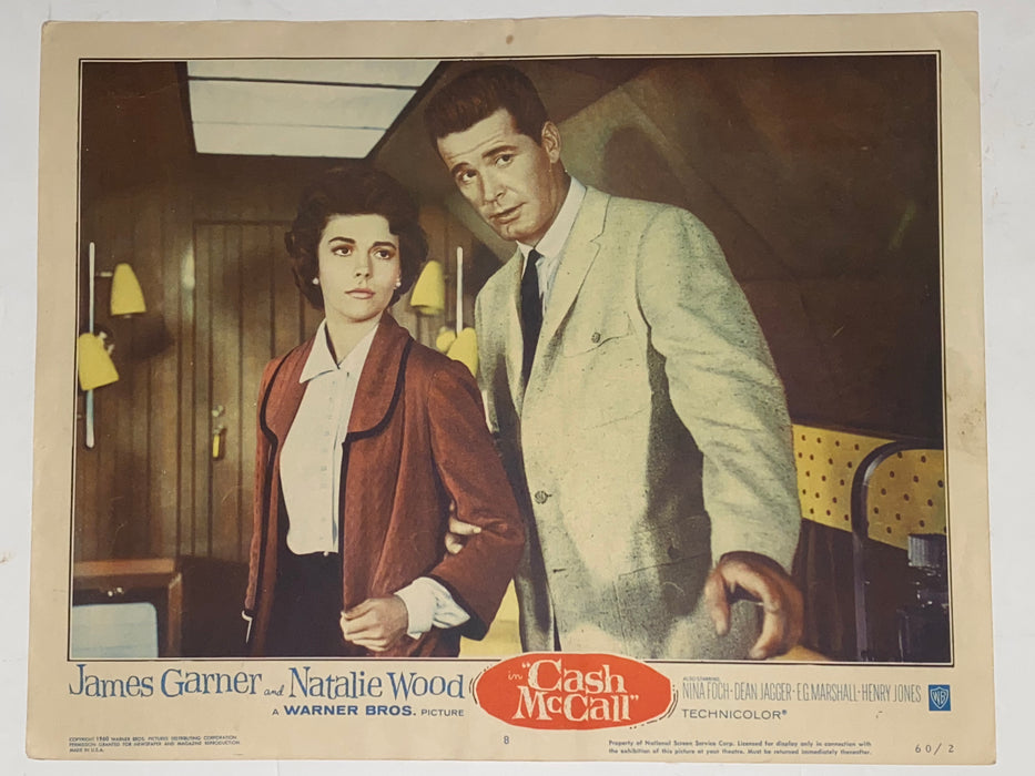 1960 Cash McCall 11x14 Lobby Card #8 James Garner, Natalie Wood, Nina Foch   - TvMovieCards.com