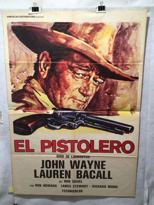 1976 El Pistolero (The Shootist) Original 1SH Spanish Movie Poster John Wayne 27   - TvMovieCards.com