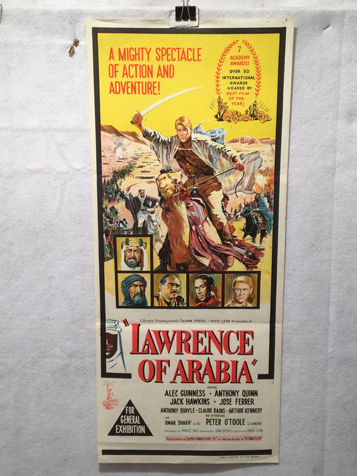 1962 Lawrence of Arabia Original Australian Daybill Movie Poster 13 x 30   - TvMovieCards.com