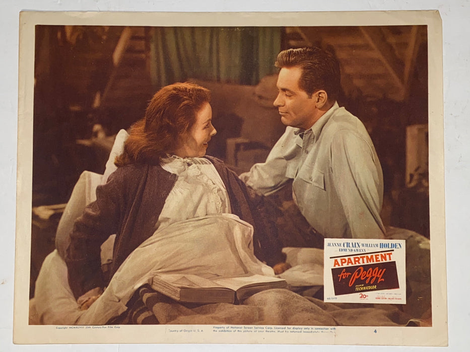 1948 Apartment for Peggy 11x14 Lobby Card #4 Jeanne Crain, William Holden   - TvMovieCards.com