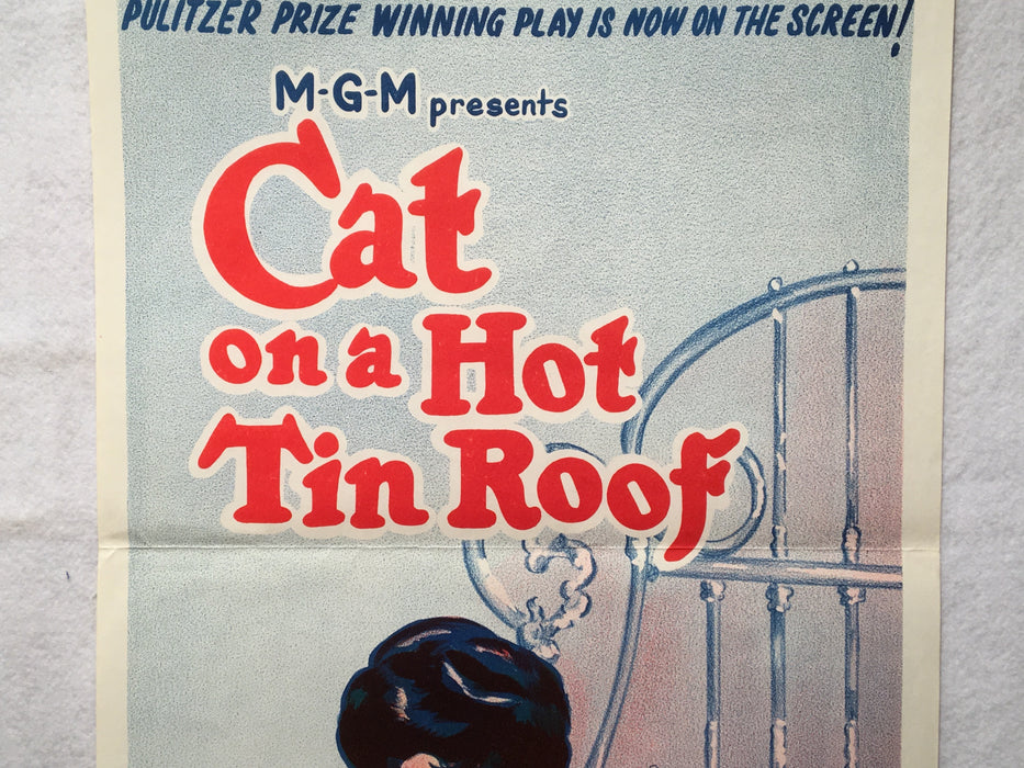1966 Cat on a Hot Tin Roof Original Australian Daybill Movie Poster 13 x 30   - TvMovieCards.com