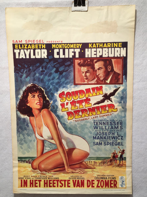 1959 Suddenly Last Summer Original Belgian Daybill Movie Poster 14 x 22   - TvMovieCards.com