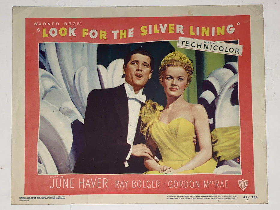 1949 Look for the Silver Lining 11x14 Lobby Card #8 June Haver, Ray Bolger   - TvMovieCards.com