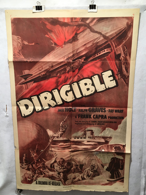 1949 Dirigible Original Rerelease 1SH Movie Poster Jack Holt 27 x 41   - TvMovieCards.com