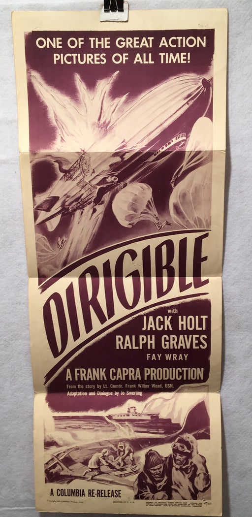 1949 Dirigible Original Rerelease Insert Movie Poster Jack Holt 14 x 36   - TvMovieCards.com