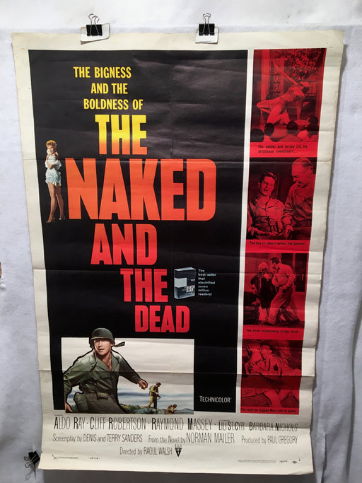 1958 The Naked and the Dead Original 1SH Movie Poster 27 x 41   - TvMovieCards.com