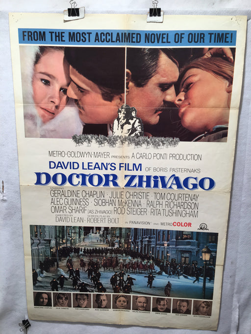 1965 Doctor Zhivago Original 1SH Movie Poster Omar Sharif Julie Christie 27 x 41   - TvMovieCards.com
