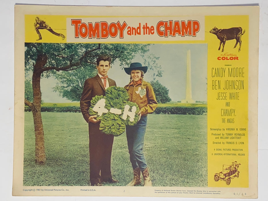 1961 Tomboy and the Champ 11x14 Lobby Card #2 Candy Moore, Ben Johnson   - TvMovieCards.com