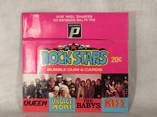 1979 Donruss Rockstars Empty Bubble Gum Vintage Trading Card Box Kiss Queen   - TvMovieCards.com