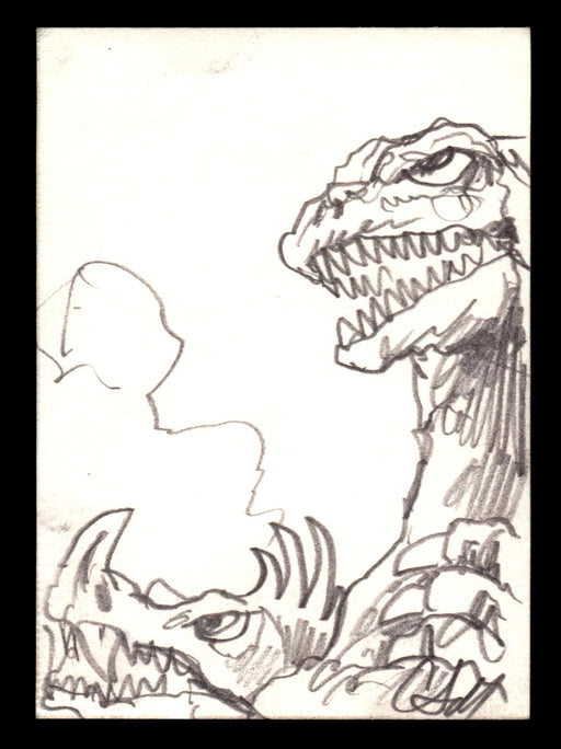 GODZILLA: KING OF THE MONSTERS Sketch Card Christopher Scalf Godzilla vs Anguira   - TvMovieCards.com