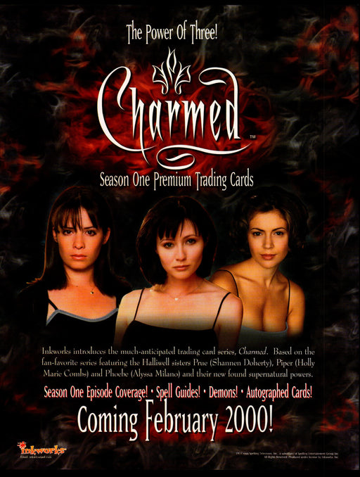 Charmed Season One Trading Card Dealer Sell Sheet Promotional Sale Inkworks 2000   - TvMovieCards.com