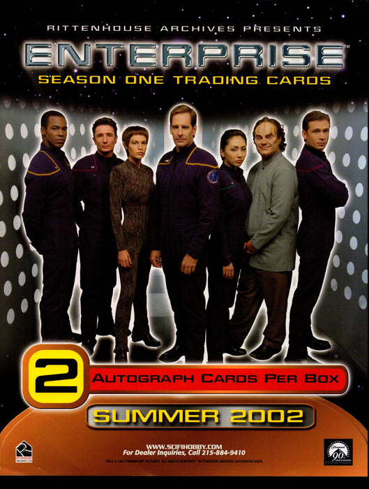 Star Trek Enterprise Season 1 Trading Card Dealer Sell Sheet Sale Ad 2002   - TvMovieCards.com