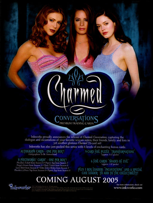 Charmed Conversations Trading Card Dealer Sell Sheet Sale Ad Inkworks 2005   - TvMovieCards.com