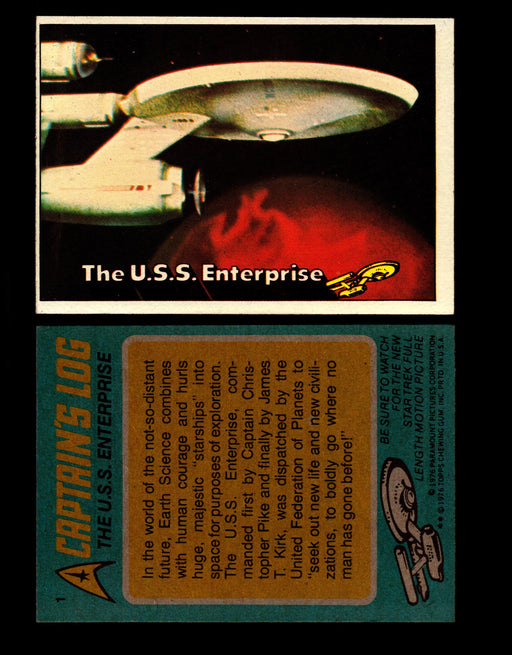 Star Trek 1976 Vintage Topps Trading Card #1-88 You Pick Singles #1  - TvMovieCards.com