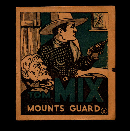 "Tom Mix ""Mounts Guard"" Adventure Stories #2 1934 National Chicle Chewing Gum   - TvMovieCards.com"