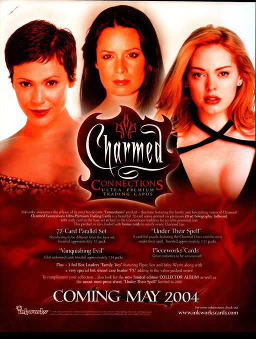 Charmed Connections Trading Card Dealer Sell Sheet Promotional Sale 2004   - TvMovieCards.com
