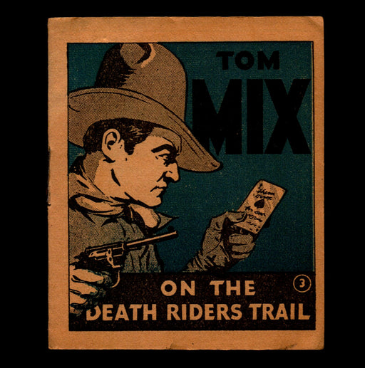 Tom Mix Death Riders Trail Adventure Stories #3 1934 National Chicle Chewing Gum   - TvMovieCards.com