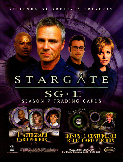 STARGATE SEASON NINE PROMOTIONAL SELL SHEET