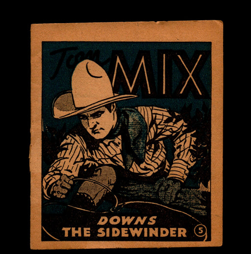 "Tom Mix ""Downs the Sidewinder"" Adventure Stories #5 1934 National Chicle Gum   - TvMovieCards.com"