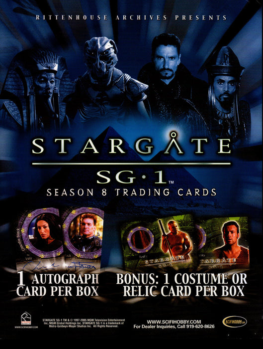 Stargate SG1 Season 8 Trading Card Dealer Sell Sheet Sale Ad 2006   - TvMovieCards.com