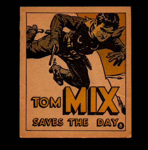 "Tom Mix ""Saves The Day"" Adventure Stories #8 1934 National Chicle Gum   - TvMovieCards.com"
