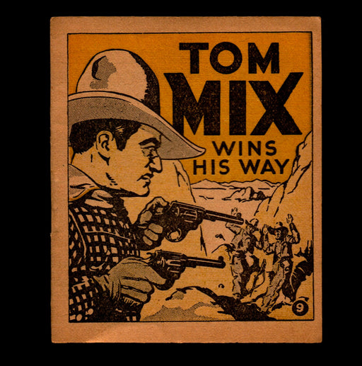 "Tom Mix ""Wins His Way"" Adventure Stories #9 1934 National Chicle Gum   - TvMovieCards.com"