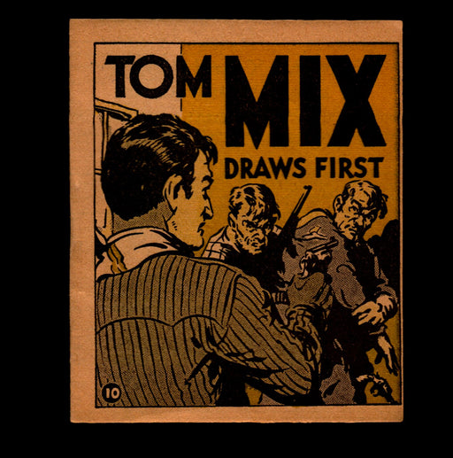 "Tom Mix ""Draws First"" Adventure Stories #10 1934 National Chicle Gum   - TvMovieCards.com"