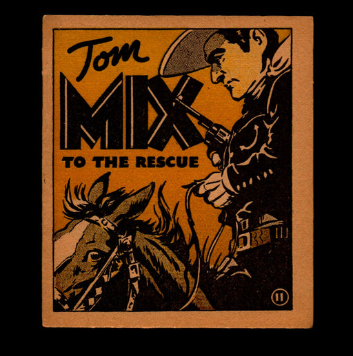 "Tom Mix ""To the Rescue"" Adventure Stories #11 1934 National Chicle Gum   - TvMovieCards.com"