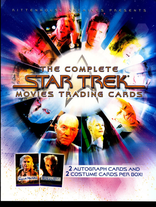 The Complete Star Trek Movies Trading Card Dealer Sell Sheet Sale Ad 2007   - TvMovieCards.com