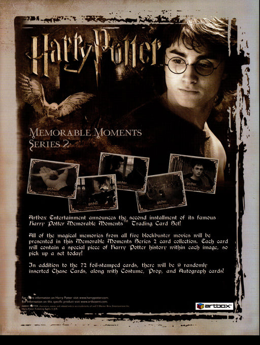 Harry Potter Memorable Moments Series 2 Trading Card Dealer Sell Sheet Sale Ad   - TvMovieCards.com