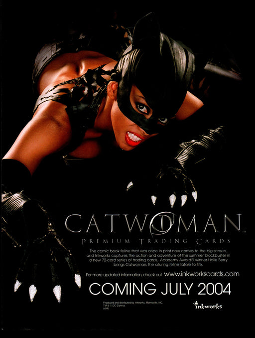 Catwoman Movie Trading Card Dealer Sell Sheet Sale Ad Inkworks 2004 Halle Berry   - TvMovieCards.com