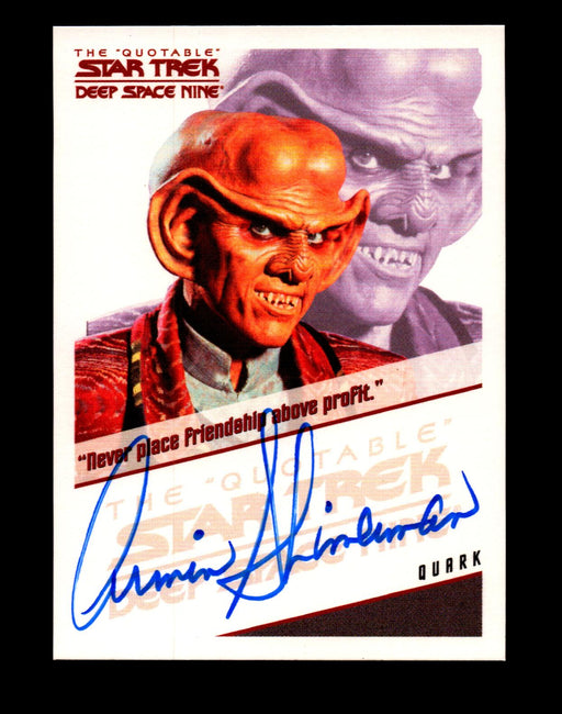 Star Trek Quotable Deep Space Nine DS9 Armin Shimerman as Quark Autograph Card   - TvMovieCards.com
