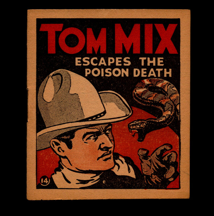 Tom Mix Escapes The Poison Death Adventure Stories #14 1934 National Chicle Gum   - TvMovieCards.com