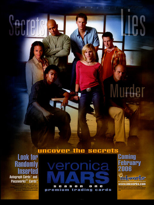 Veronica Mars Season One 1 Trading Card Dealer Sell Sheet Promotional Sale 2007   - TvMovieCards.com