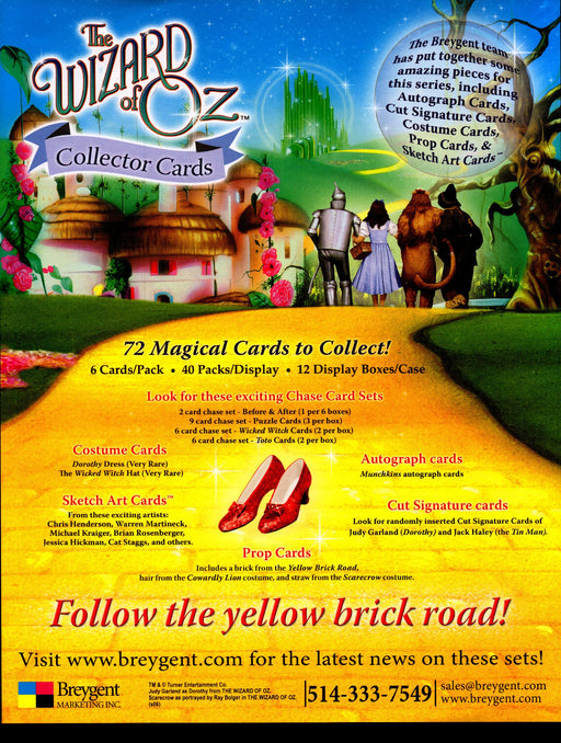The Wizard of Oz Trading Card Dealer Sell Sheet Sale Ad Breygent 2006   - TvMovieCards.com
