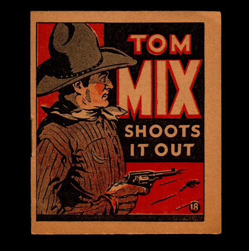 "Tom Mix ""Shoots it Out"" Adventure Stories #18 1934 National Chicle Gum   - TvMovieCards.com"