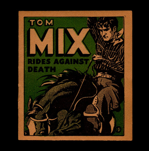 "Tom Mix ""Rides Against Death"" Adventure Stories #19 1934 National Chicle Gum   - TvMovieCards.com"