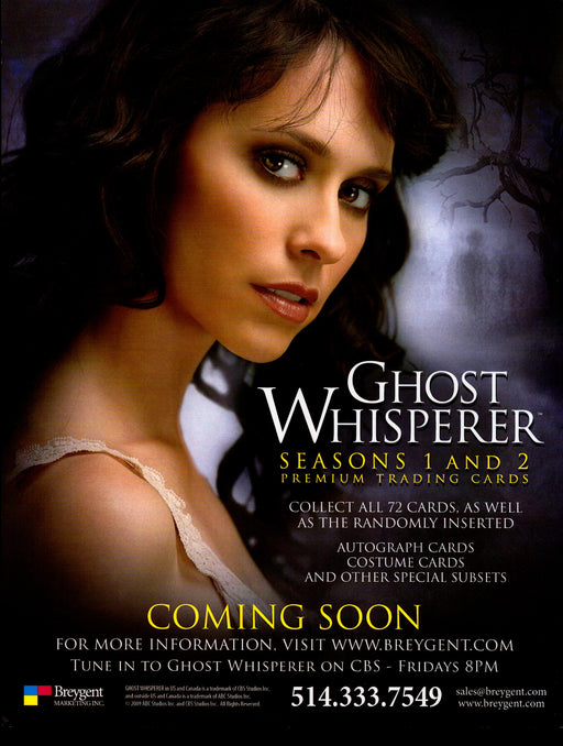 Ghost Whisperer Season 1 & 2 Trading Card Dealer Sell Sheet Promotional Sale 200   - TvMovieCards.com
