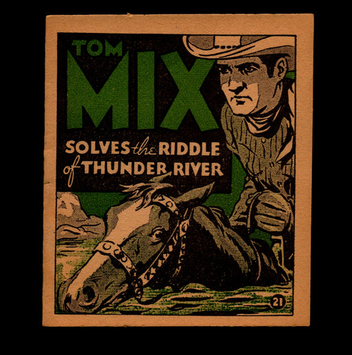 "Tom Mix ""Solves the Riddle"" Adventure Stories #21 1934 National Chicle Gum   - TvMovieCards.com"