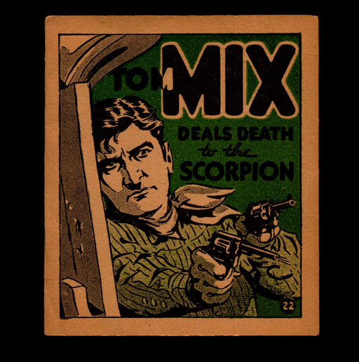 "Tom Mix ""Deals Death to Scorpion"" Adventure Stories #22 1934 National Chicle Gum   - TvMovieCards.com"