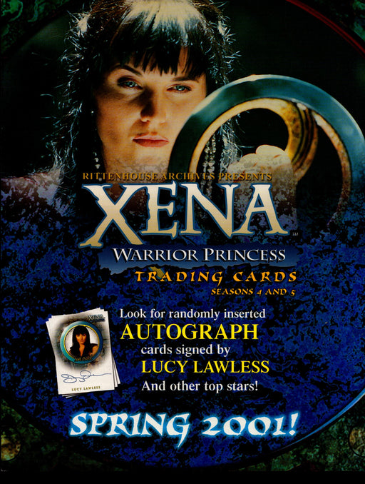 Xena Warrior Princess Seasons 4 & 5 Trading Card Dealer Sell Sheet Sale Ad 2001