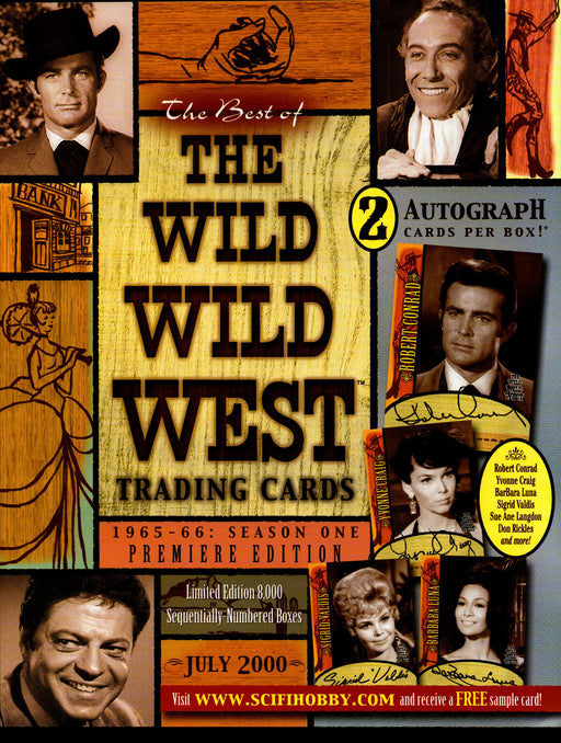 The Wild Wild West Premiere Edition Trading Card Dealer Sell Sheet Sale Ad 2000   - TvMovieCards.com
