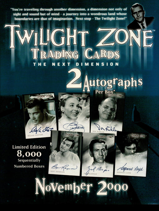 The Twilight Zone Next Dimension Trading Card Dealer Sell Sheet Sale Ad 2000   - TvMovieCards.com