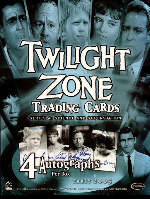 The Twilight Zone Science & Superstition Trading Card Dealer Sell Sheet Sale